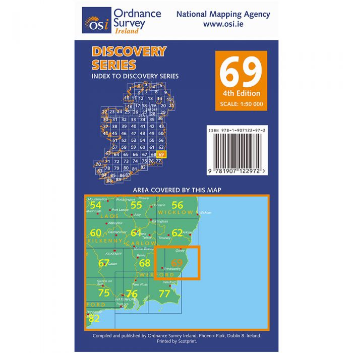 Map69.Ordnance Survey Ireland 1 50 000 Map 69 Wexford